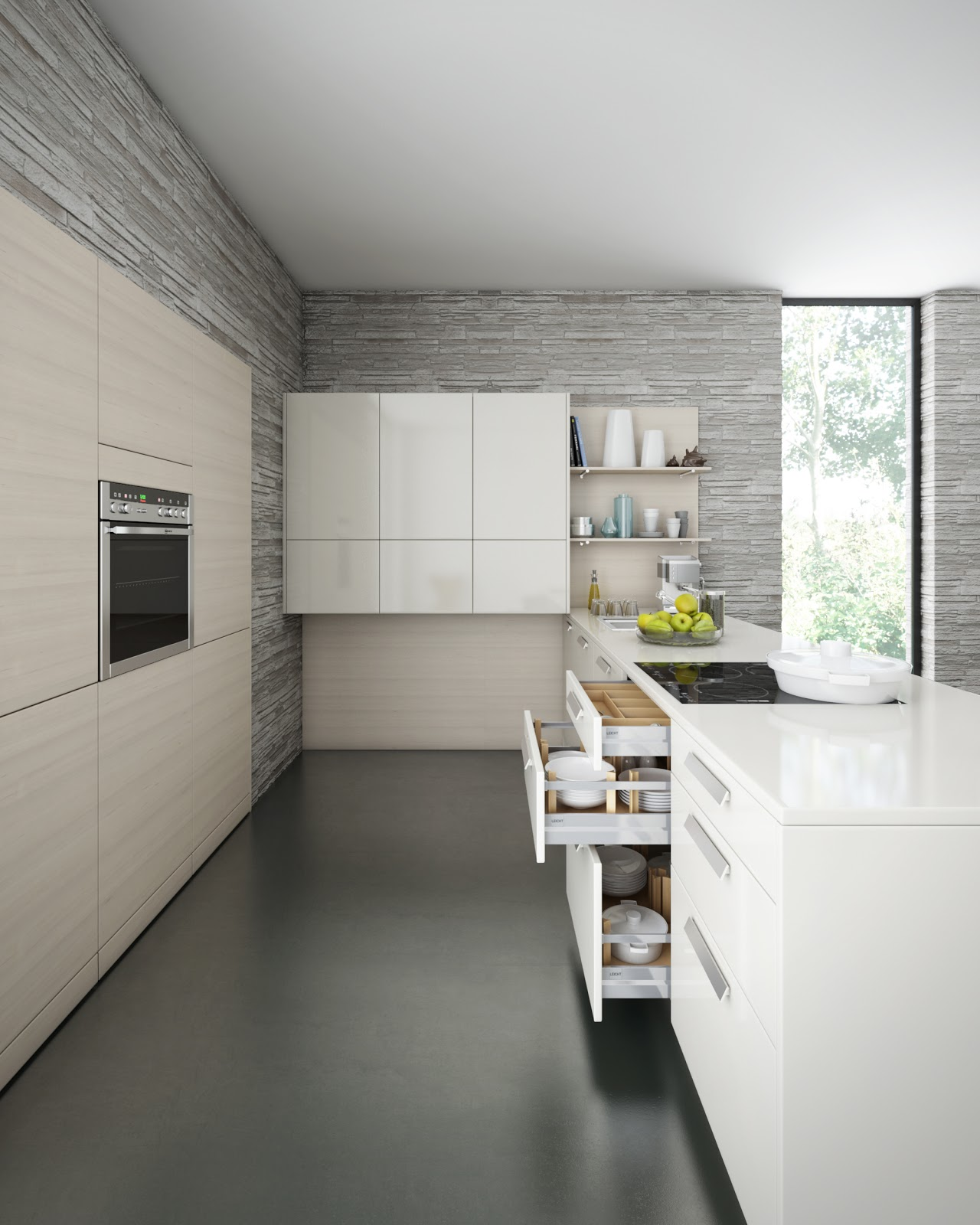 Leicht Kitchen Through CGI