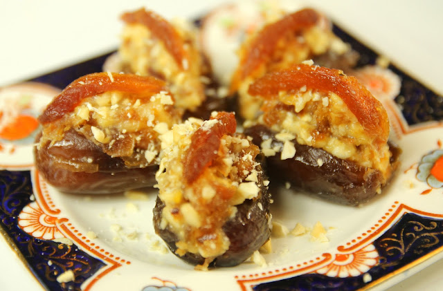 Cashew Stuffed Dates. Gluten-free Organic Petits Fours Recipe