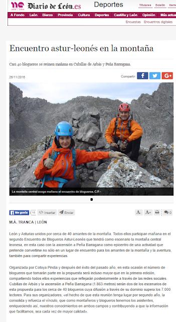Cotoya Pindia en el Diario de Leon