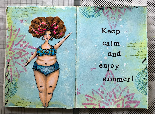 I Would Like You All To Make A Summer Or Holiday Themed Project ! I Have  Made An Art Journal Spread: