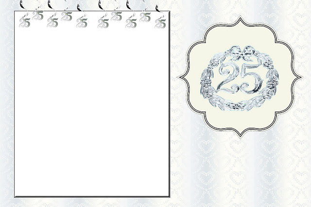 Bodas De Prata Kit Completo Com Molduras Para Convites Rotulos