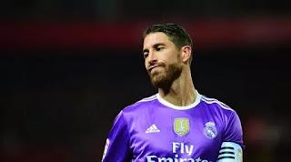 Ramos mencetak gol ke gawang Real Madrid pada menit ke-85.