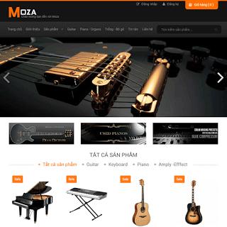 template bán hàng guitar chuẩn responsive