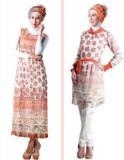 Model baju batik kombinasi untuk muslimah