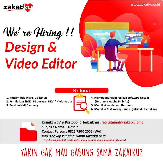 Lowongan Design dan Video Editor Zakatku