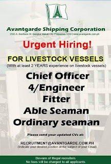 SEAMAN JOB Shipping Corporation urgent hiring for vessel crew join January 2019
