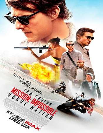 Poster Of Mission Impossible Rogue Nation 2015 Dual Audio 500MB BRRip 720p ESubs HEVC Free Download Watch Online downloadhub.in