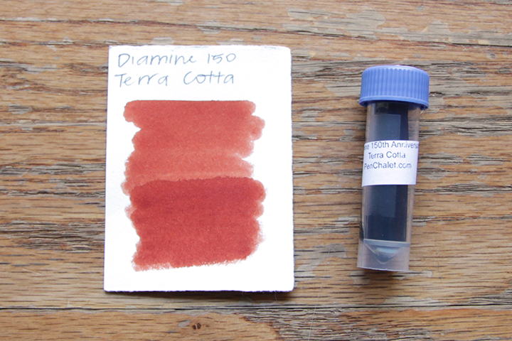 review: diamine 150th anniversary terracotta