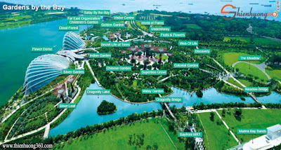 Bản đồ Gardens by the Bay Map