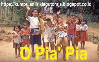 Download Lagu Toraja Tempo Dulu O Pia' Pia by Icha Lintin