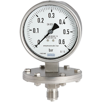 diaphragm pressure gauge for industrial process measurement