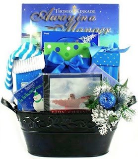 Christian Childrens Christmas Gift Basket with Cookies, Chocolate, Fudge, Books & Music