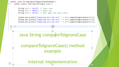 String compareToIgnoreCase​()
