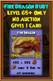 Fire Dragon - Wizard101 Card-Giving Jewel Guide