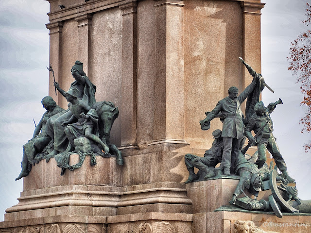 Ansamblu sculptural pe statuia ecvestrã a lui Giuseppe Garibaldi - blog Foto-Ideea
