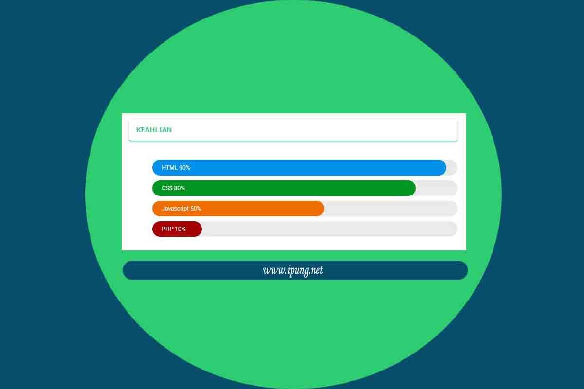 Cara Membuat Tampilan Skill / Ketrampilan di Blog dengan CSS