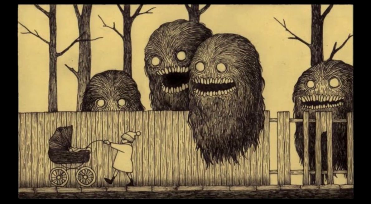 This Illustrator Uses Sticky Notes for His Horror Art Horror