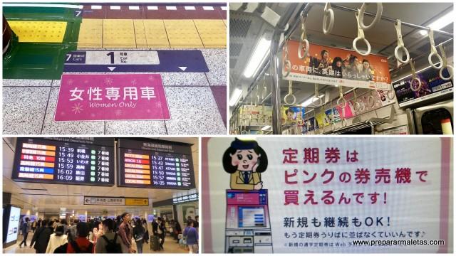 carteles curiosos metro Tokio
