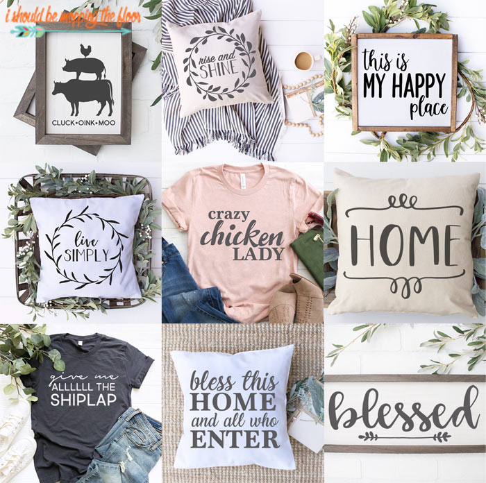 Farmhouse Style SVGs