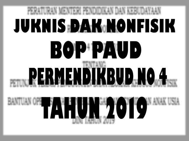 juknis bop paud tahun 2019