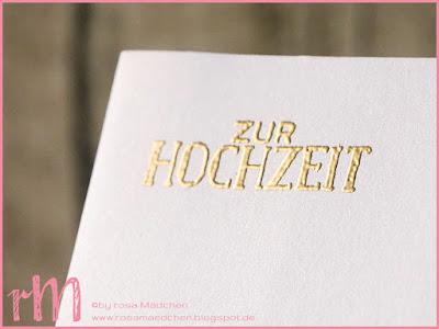 Stampin' Up! rosa Mädchen Kulmbach: Hochzeitskarten in Pastell mit Gold - schlicht und einfach