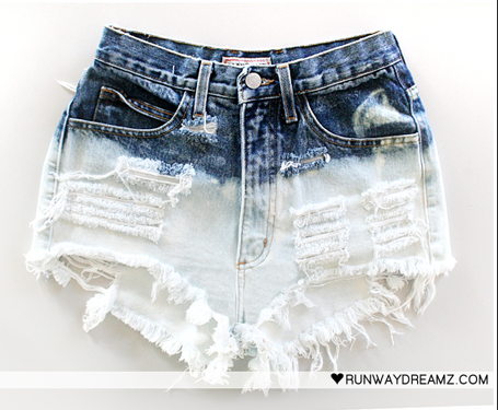 WildFlower: DIY: Bleached & Studded Shorts