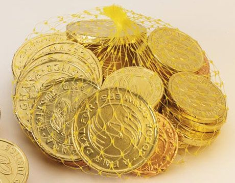 Christmas gold coins