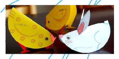 DIY กระดาษแผ่นเดียวประดิษฐ์สัตว์น่ารัก