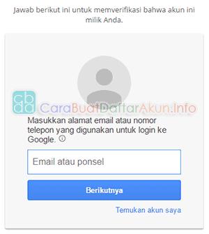 cara mengganti kata sandi email yang lupa