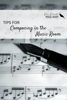 Tips for composing in the music room: Including ideas for pacing, other activities to help them be prepared for composing, and more!