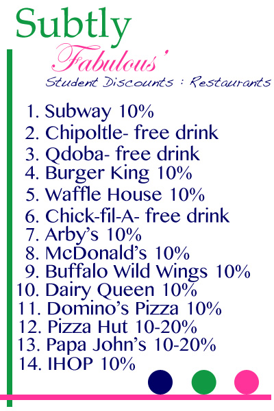 If you do, you should start rewarding them with some awesome good student discounts and freebies that many companies offer these days. Hats off to these companies for acknowledging the importance of working hard in school and getting a good education.