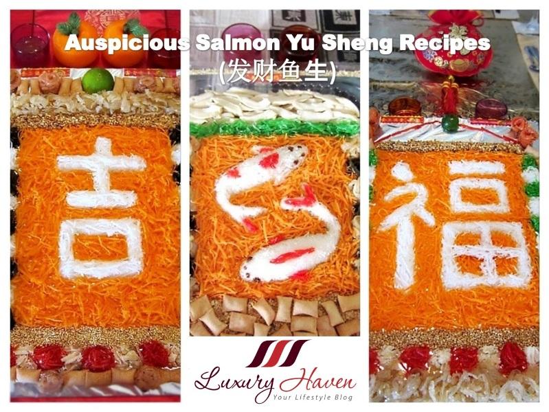 creative chinese new year prosperity toss yusheng recipes
