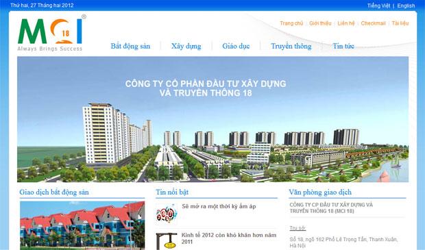 thiết kế website công trình năm 2015