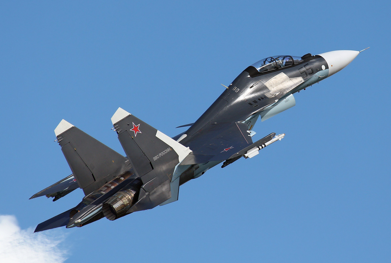 Russian Air Force Sukhoi Su 27 In A Grey