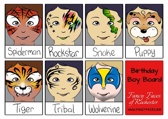 More face painting designs for a birthday party for boys