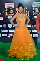 Keerthi in Orange Anarkali Dress at IIFA Utsavam Awards 2017  Day 2  03.JPG