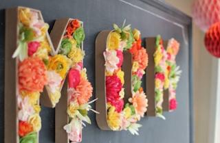 Kağıttan Çiçekli Harf Yapımı