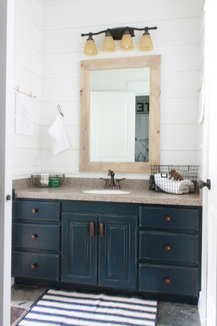 Budget bathroom makeover with paint