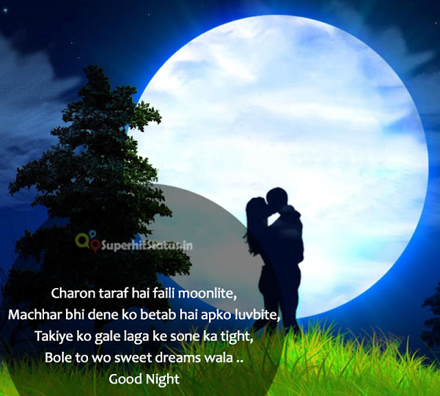 Hindi SHayari Of Good Night Images