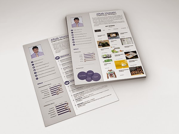 Free 2 Page Resume Template Design