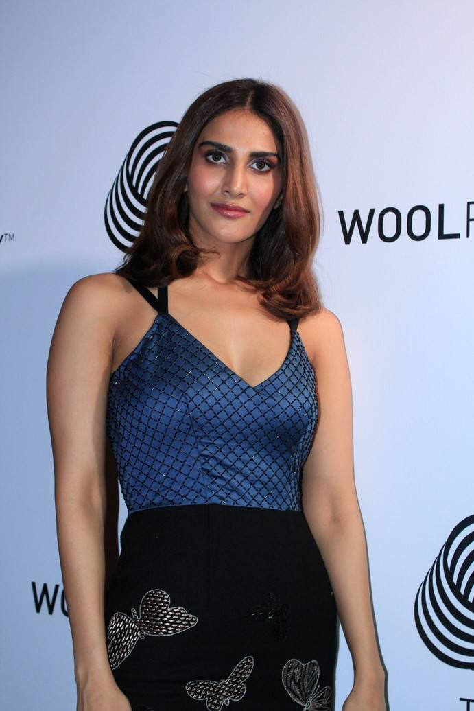 Hindi Actress Vaani Kapoor Photos in Blue Dress
