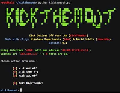 Cara Mengeluarkan Pengguna Wifi Kita Dengan Tools KickThemOut Terbaru
