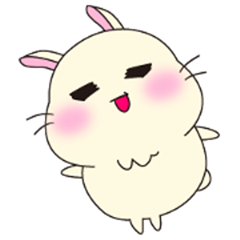 rabbit sticker(papi)