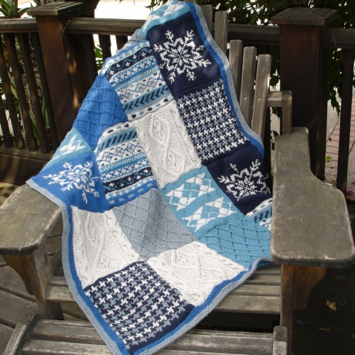 Blue Fireside Patchwork Afghan - Free Pattern
