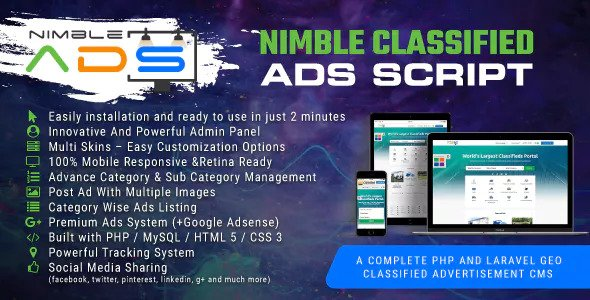 Nimble Classified Ads Script