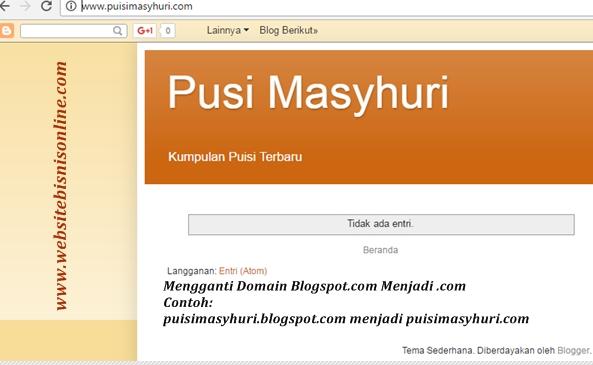Cara Cepat Mengganti Domain Blogspot Menjadi .com, .net, .xyz, .web.id, dan Top Level Domain (TLD) Lainnya