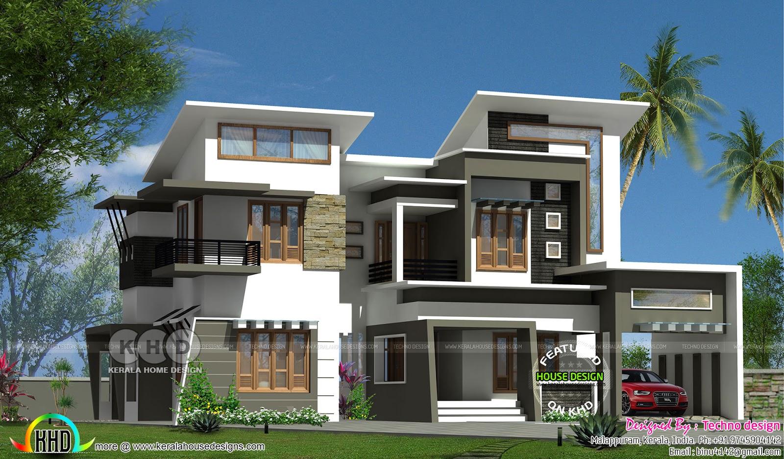 Modern box type 2350 square feet home - Kerala home design ...
