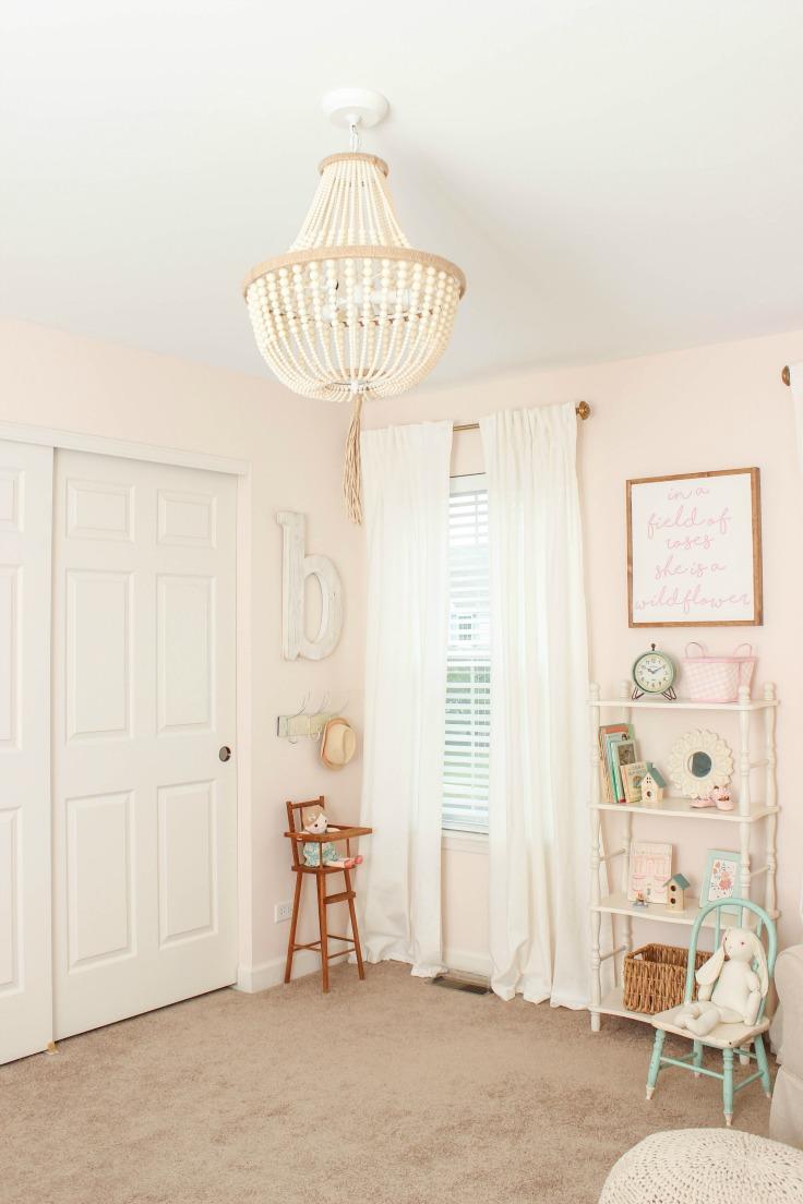 beaded chandelier nursery
