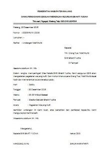 surat undangan silaturrahmi