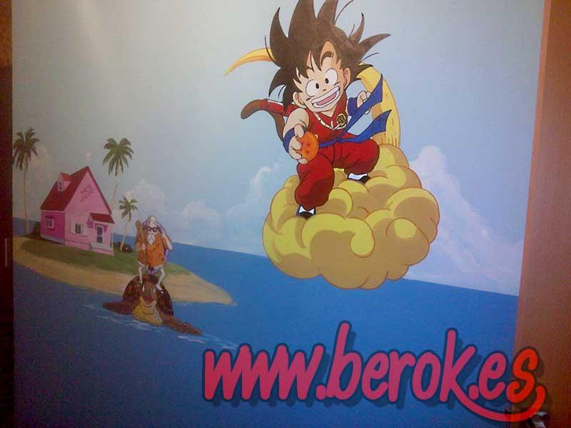 Berok graffiti mural profesional en barcelona murales for Dragon ball z mural